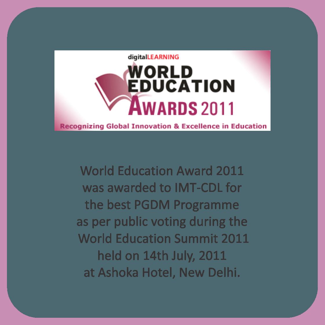 world education award