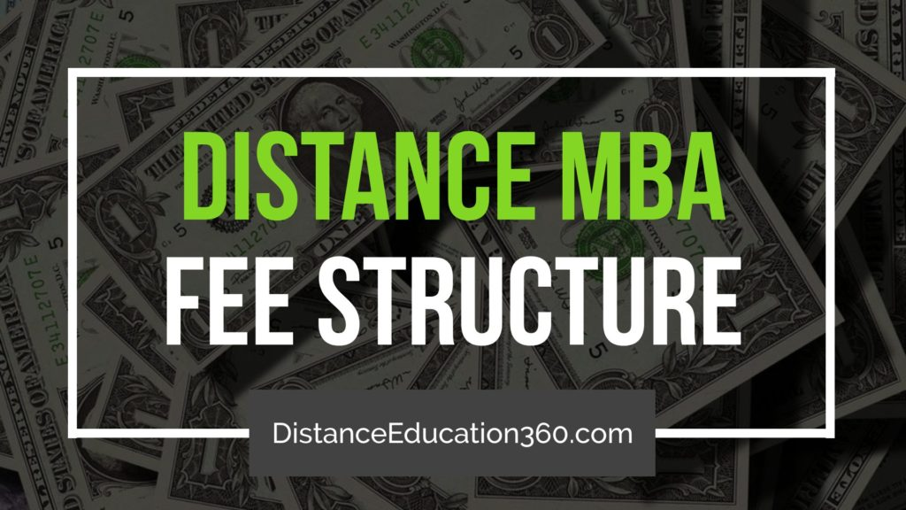 Distance Education MBA Fee Structure India