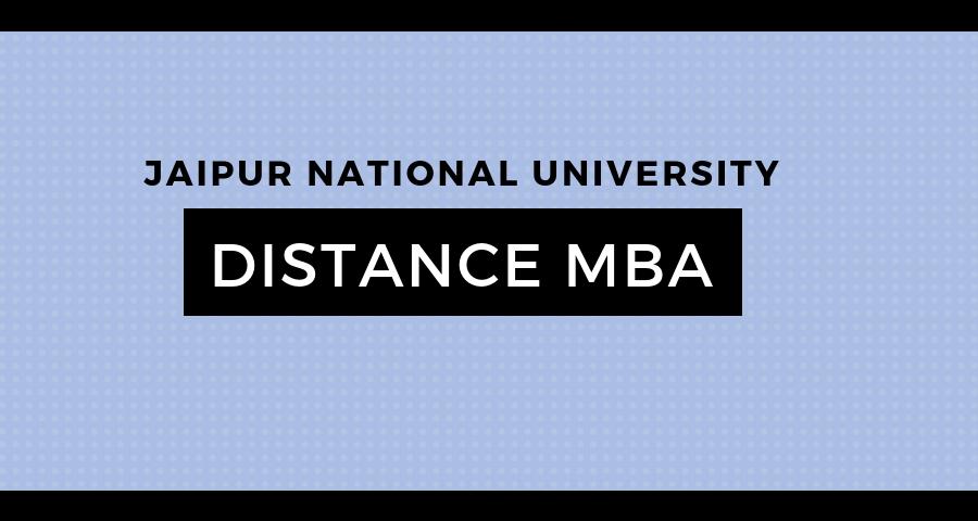 jaipur national university distance education mba