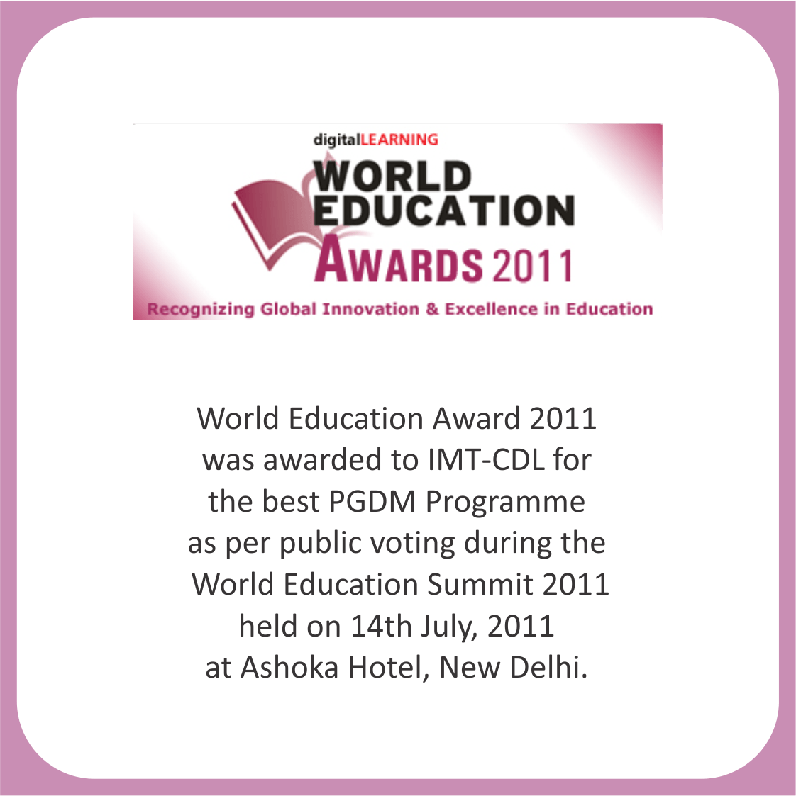 world education award