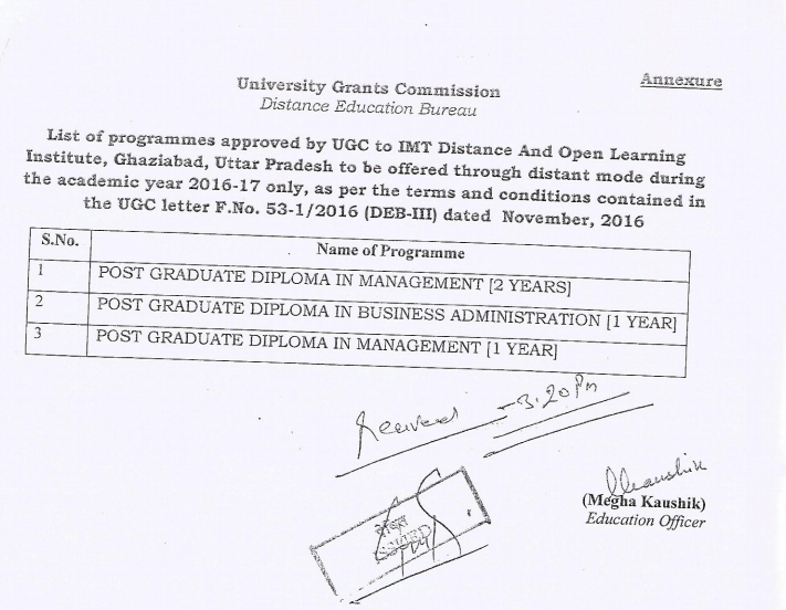 IMT CDL UGC Approval