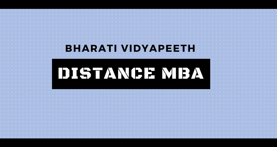 Bharati Vidyapeeth Distance Education MBA