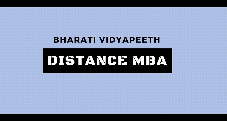 Bharati Vidyapeeth Distance Education MBA
