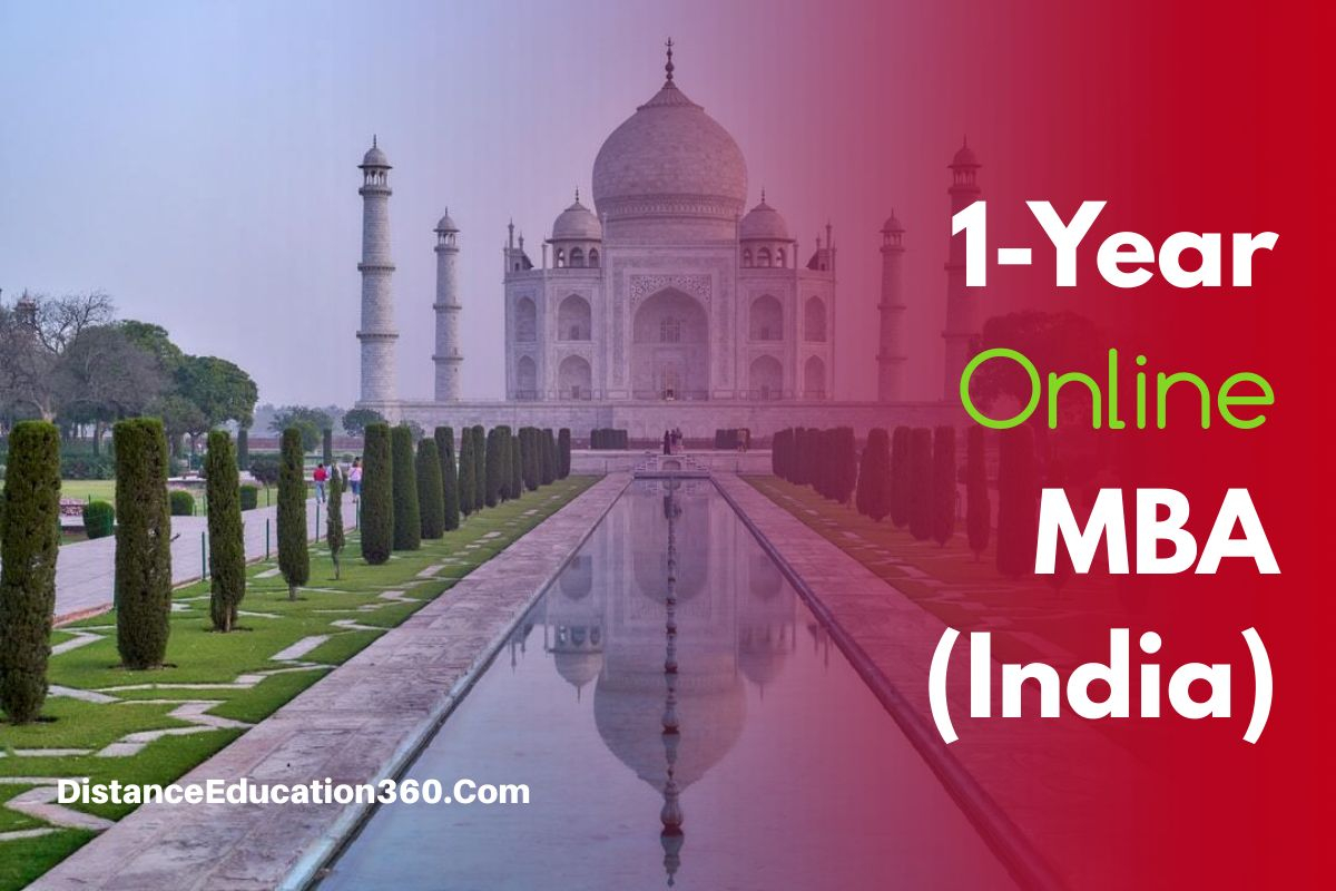 1-year online distance mba india