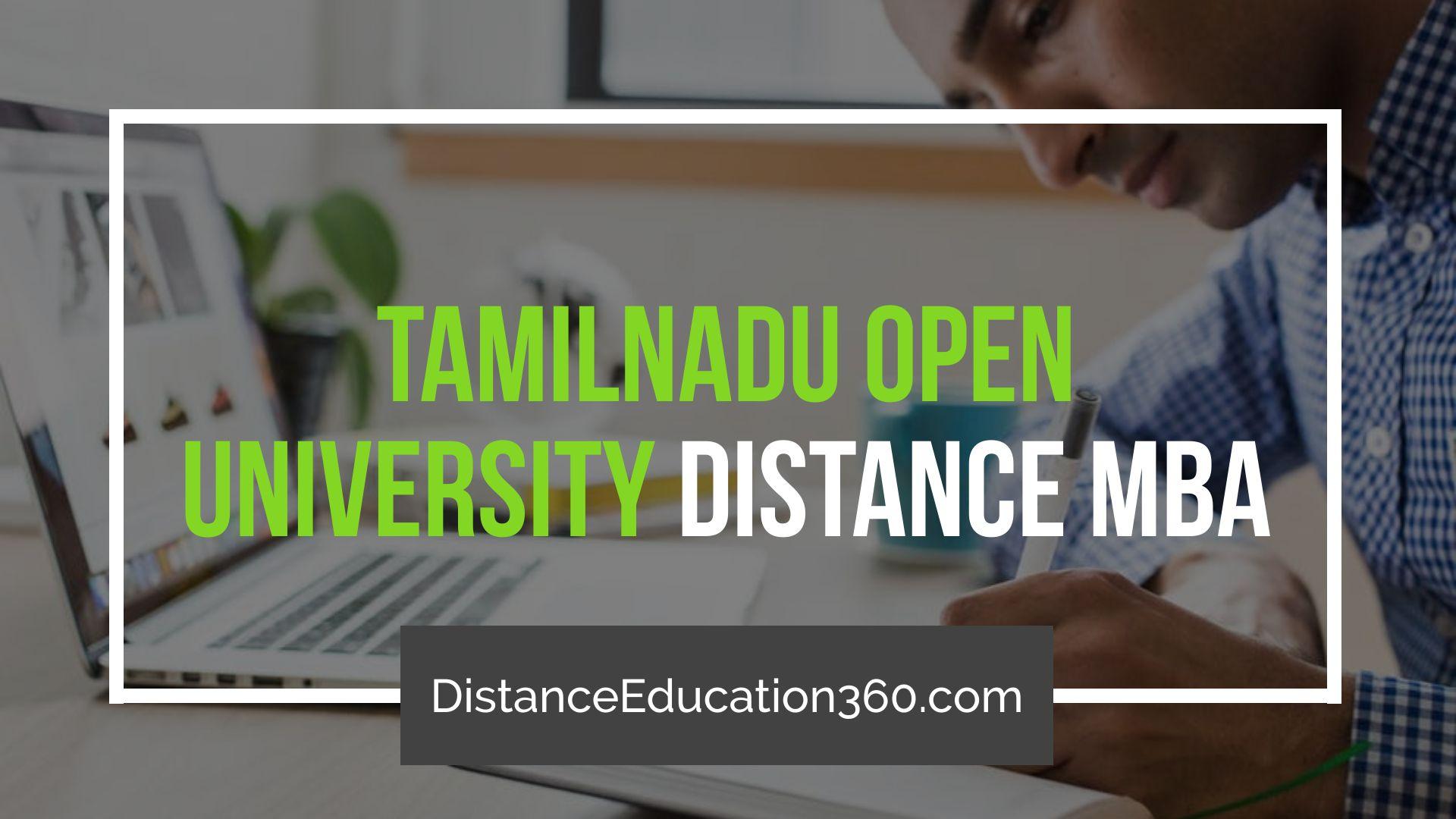 Tamil Nadu Open University (TNOU) Distance MBA